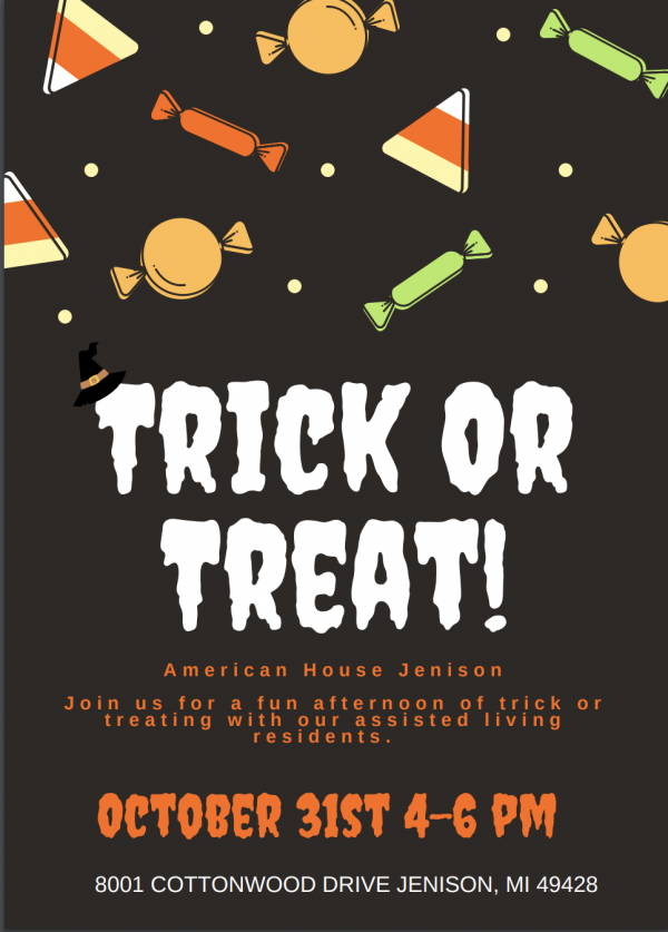 Trick or Treat at American House!